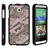 Compatibel with HTC Desire 510 Snap On Black Hard Case Cover by TurtleArmor - Pink Hunters Camo