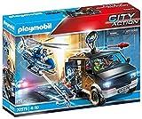 PLAYMOBIL City Action Helicóptero de Policía: persecución del vehículo huido, A partir de 4 años (70575)