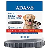 Adams Flea & Tick Collar for Dogs & Puppies, 6 Month Protection, Repels Mosquitos, Adjustable - One Size Fits All