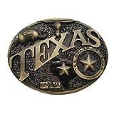 Xwest Hebilla de cinturón Modern Texas Brass Heritage Belt Buckle