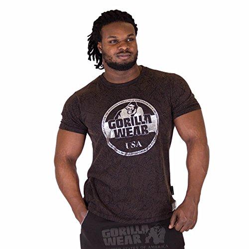 Gorilla Wear Rocklin T-Shirt - schwarz - Bodybuilding und Fitness Bekleidung Herren, 3XL