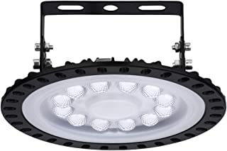 Lámpara LED UFO 50W Alta Bahía, 5000LM Focos Led Interior Techo 6500K Industrial LED Iluminación Comercial para Fábricas, Aeropuerto, Patio, Restaurante [Ahorro Energía A ++] (1 PACK, 50W)