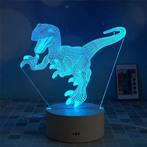 YOUPING Lámpara LED de ilusión 3D, luz nocturna, táctil, bruja, lámpara de mesa para dormitorio, regalo de día, mesita de noche, decoración para dormitorio de niños, lámpara de escritorio