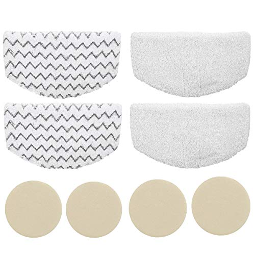 Bsnuo 4 Pack Washable Steam Mop Pads Replacement with 4 Fragrance Discs for Bissell Powerfresh 1940 1544 1440 Series Steam Mop (4 Pack Mop Pads + 4 Fragrance Discs)