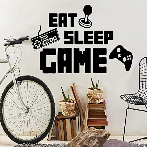 Dieta moderna juegos para dormir decoración de pared autoadhesiva decoración de pared decoración de sala de juegos pegatina de vinilo pegatina de pared A5 L 43x63cm
