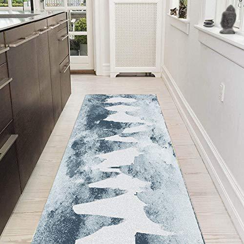 Yurun Tepiche für Flur Läufer Küchenteppich, Einfach zu Säubern, Weiche Oberfläche, Kurzflor für Wohnzimmer Flur Büro Schlafzimmer Küche, 8 x Matten Greifer rutschfeste - 100x330cm