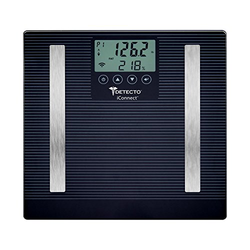 Detecto D303 8-in-1 Analyzing Bathroom Scale, Connects via Bluetooth with Smartphones, Free Downloadable App, Digital LCD Display, 400lb Capacity