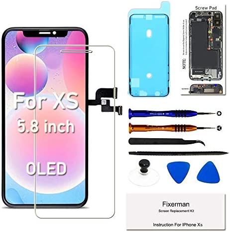 Fixerman for iPhone Xs OLED Screen Replacement 5 8 inch 3D Touch Display Digitizer Frame Assembly product image