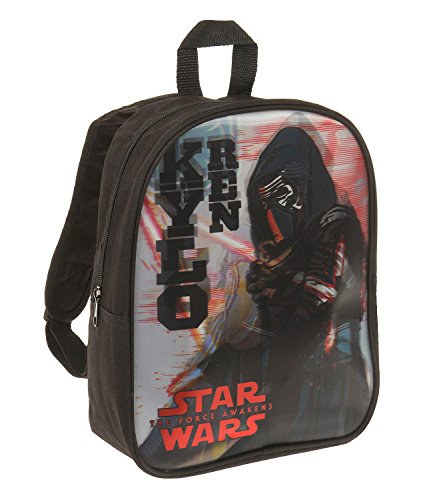 Star Wars-The Clone Wars Darth Vader Jedi Yoda Chicos Mochila - Negro -