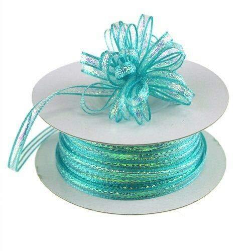 Pull Up Bow Ribbon 1/8' x 50 Yards (3mm x 150 ft) Gift wrap Ribbons Decoration (Aqua) ntLG19