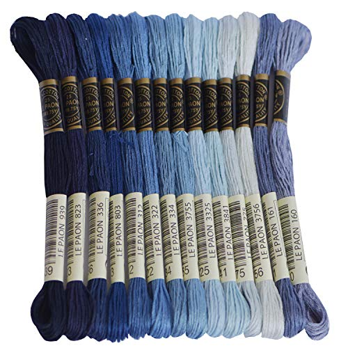 Le Paon Premium Rainbow Color Embroidery Floss