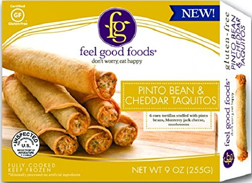 Feel Good Foods Taquitos, Pinto Bean and Cheddar, 8 Ounce (pack Of 09)