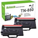 Aztech Compatible Toner Cartridge Replacement for Brother TN850 TN-850 TN 850 TN820 TN-820 Brother HL-L6200DW HL-L6200DWT MFC-L5900DW MFC-L5700DW MFC-L6800DW HL-L5200DW MFC-L5850DW (Black, 2-Pack)