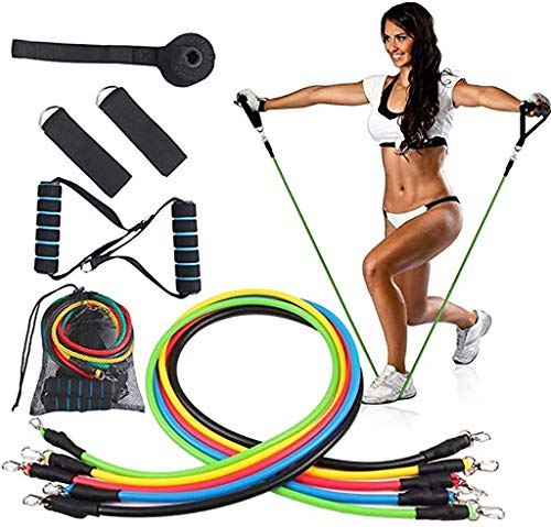 Discover Bargain Tixgod Resistance Bands,11pcs/Set Elastic Training Pull Rope Fitness Exercises Tens...