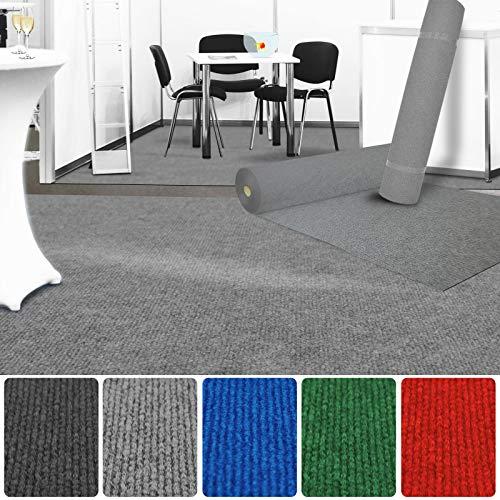 etm Premium Messeteppich Meterware | Eventteppich als Hochzeitsläufer, Premierenteppich, VIP-Teppich UVM. | viele Farben und Größen | Grau - 200x300 cm