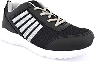 Casual Black Lace-Up Sports Running Mesh Comfortable and Easy Sneakers Shoes