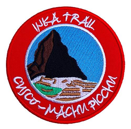Inca Trail Machu Picchu de Cuzco Pérou Patch 9 cm fer brodé sur Applique Badge Alpinisme Escalade Voyage Souvenir DIY Sac à dos Bagages T-shirt pour femme