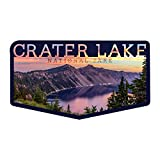 Crater Lake National Park, Oregon, Early Morning at Crater Lake, Contour 90094 (Vinyl Die-Cut Sticker, Indoor/Outdoor, Large)