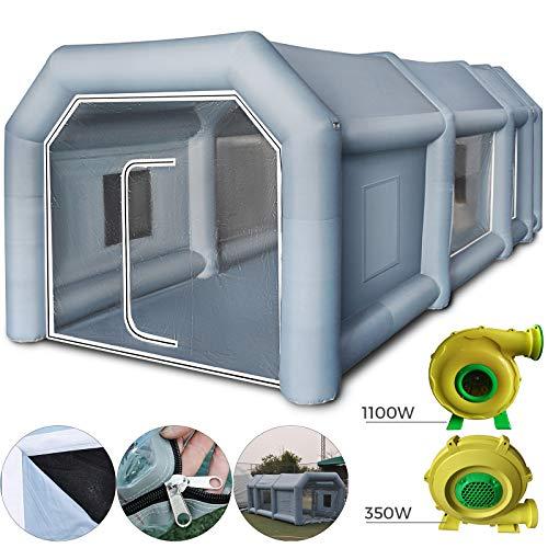 HuSuper 12x5x4m Aufblasbare Lackierkabine Zelt Spritzkabine Zelt Luftzelt Campingzelt Lackierkabine mit 2 Gebläse