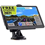 GPS Navigation for Car,Latest 2021 Map 7.1 inch Touch Screen Car GPS 256MB-8GB, Voice Turn Direction Guidance, Support Speed and Red Light Warning,Pre-Installed North America Lifetime map Free Update