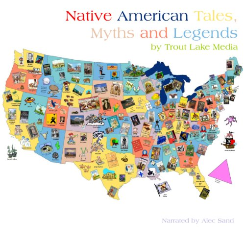 Native American Tales, Myths and Legends  audiobook cover art
