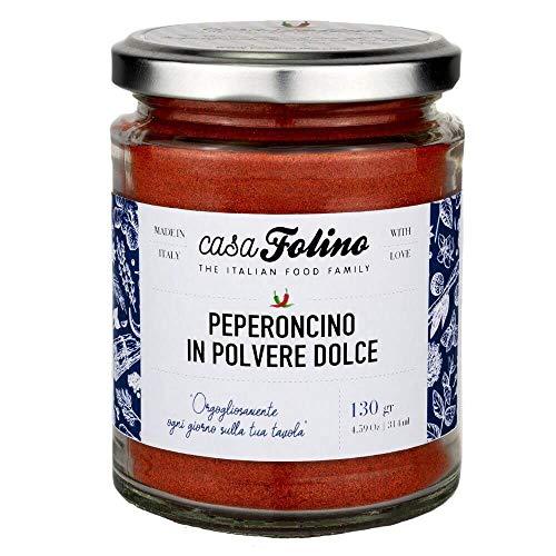 Pimienta dulce en polvo de 90 g en tarro de cristal reutilizable y reciclable. Ideal para todo tipo de preparación. Fabricado en Italia.