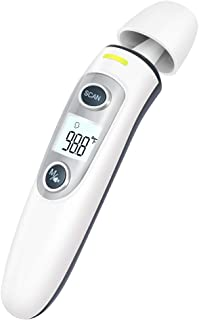 Baby Thermometer, Digital Forehead & Ear Thermometer with Instant Accurate Reading Temporal Thermometer and Fever Alarm- for Baby & Adult.