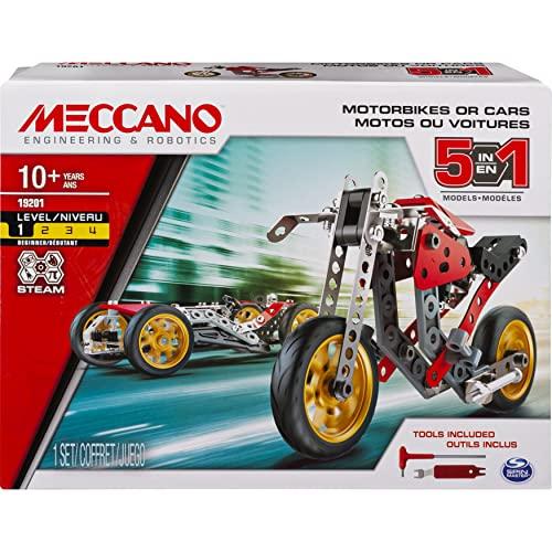 MECCANO - VOITURE ET MOTO 5 MODÈLES - Coffret Inventions...