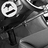 Kohree Car Steering Wheel Lock, Retractable Hook Brake Lock Clutch Lock Universal Anti-Theft