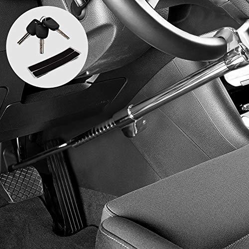 Kohree Blocca Sterzo per Auto Bloccasterzo Regolabile Universale Dispositivo di Blocco Volante Pedale Antifurto Bloccaggio Dispositivi Serratura Volante Antifurto immobilizzatore con 3 Chiavi