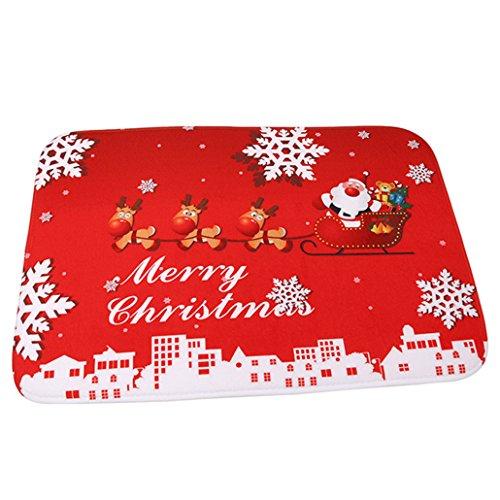 Chinget Weihnachten Motiv Fußmatte Türmatte Rutschfest Matte Fußabtreter Teppich Weihnachtsdekor, 60 * 40 cm (#2)