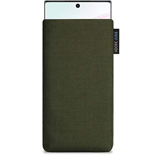 Adore June Classic Verde-Oliva Funda Compatible con Samsung Galaxy Note 10 Plus, Material Resistente Efecto Limpiador de Pantalla