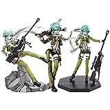 JINGMAI 3Pcs Anime Sao Ggo Phantom Bullet Sinon Figura De Acción,Sword Art Online Asuna Figurilla PVC Chica Soldado Modelo Juguete De Regalo 20-22Cm