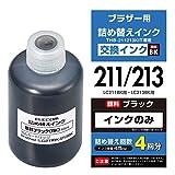 エレコム 詰め替えインク ブラザー LC211BK LC213BK対応 ブラック 4回分 THB-211213BK4
