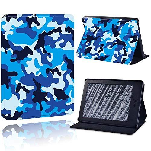 BHTZHY Durable Case Voor - Funda para tablet Kindle 8/10Th Paperwhite 1/2/3/4, diseño de camuflaje, color azul