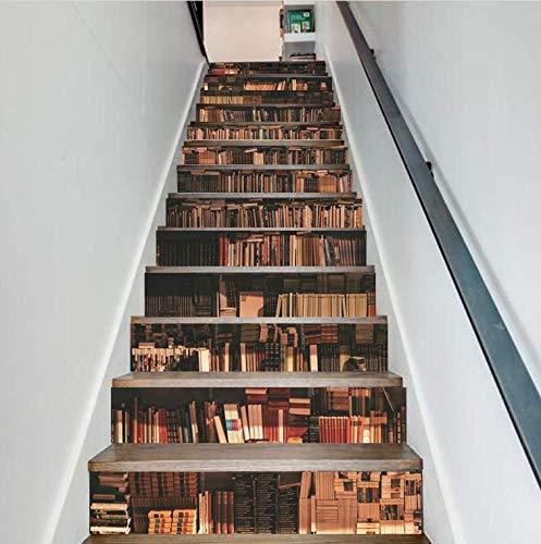 Bücherregal Dekofolie Selbstklebend Treppe FLFK 3D - 3