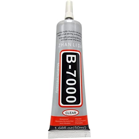 Pacificdeals B7000 Pack of 1 Multi-Purpose Semi Fluid Transparent White Easy to Use Strong Adhesive Glue Sealant Clear Waterproof Glue Compatible For Laptop Bezel Slime Rhinestone Clothes School Kids Projects Jewellery Shoes Sole Repair Mobile Phone LCD Touch Display Screen Repair Plastic Toys epoxy Resin Decorations Art Craft Work leather Bag DIY Fabric Nail Border Clear - 50ml
