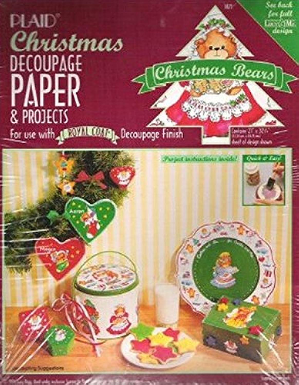 Christmas Decoupage Kit Plaid Bears Lucy & Me Designs #1471
