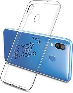 Suhctup Compatible con Huawei Y6 2019/Y6 Pro 2019/Y6 Prime 2019 Funda Silicona Transparente con Dibujos Lindo Cárcasa Ultr...