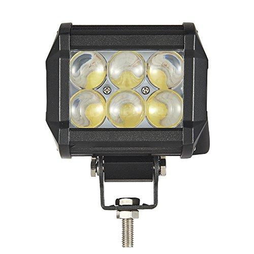 18W Phare de Travail,18W LED Phare Longues Portées LED Feu pour Véhicule Tout-Terrain Camion SUV ATV Bateau