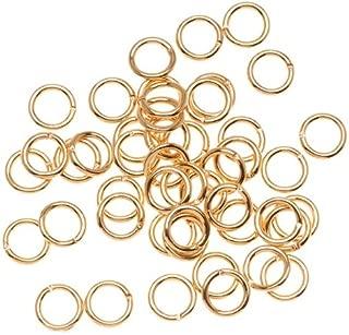 Beadaholique JR/036X6G 100-Piece Open Jump Rings, 6mm, 22K Gold