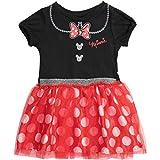 Disney Minnie Mouse Toddler Girls' Costume Tutu Dress, Black/Red 5T