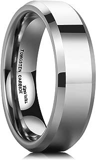 Basic Men's 4mm/5mm/6mm/7mm/8mm Tungsten Carbide Ring Polished Plain Comfort Fit Wedding Engagement Band