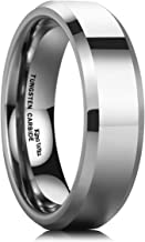 King Will Basic Men's 4mm/5mm/6mm/7mm/8mm Tungsten Carbide Ring Polished Plain Comfort Fit Wedding Engagement Band