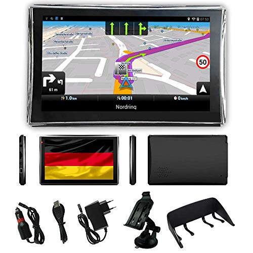 7 Zoll GPS Navigationsgerät EU-Karten mit 46 Ländern - MP3 Player Video Player