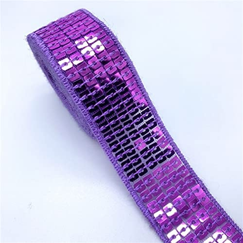 Leander 2y 5Yards 5 popular Lot 25mm Sequins Attention brand Ribbon Lace Sewin Trim Sequin