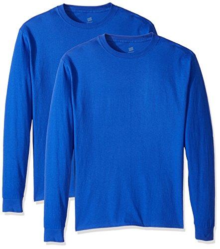 Hanes Men's Comfortsoft Long-Sleeve T-Shirt (Pack of 2), Deep Royal,X Large