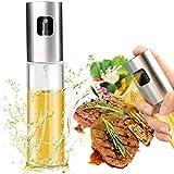Pulverizador de aceite de oliva, botella de aceite portátil de grado alimentario, dispensador de salsa de soja para cocinar, barbacoa, ensalada, hornear, asar, freír, 3.5 oz (100 ml) de capacidad (1)