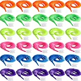 Tayarana Soft Magic Worms Toy Wiggly Jiggly Worms Twisty Fuzzy Worms on String Carnival Party Favors (30 pcs)