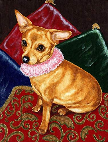 5D DIY Diamond Painting Kits for Adults Brown Chihuahua Dog Full Drill Crystal Embroidery Cross Stitch Arts Crafts for Home Wall Decor(Square Drill 11.8 Inch'X15.7 Inch')